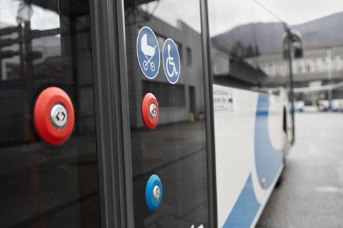 pulsadores autobus