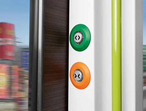 pulsadores trenes tranvías