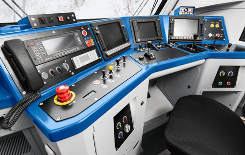 pulsadores cabina tren