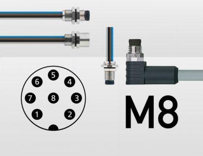 conectores M8 de 8 pines